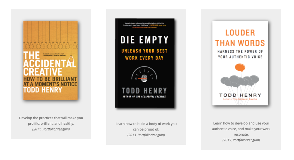 Todd Henry books on productiv